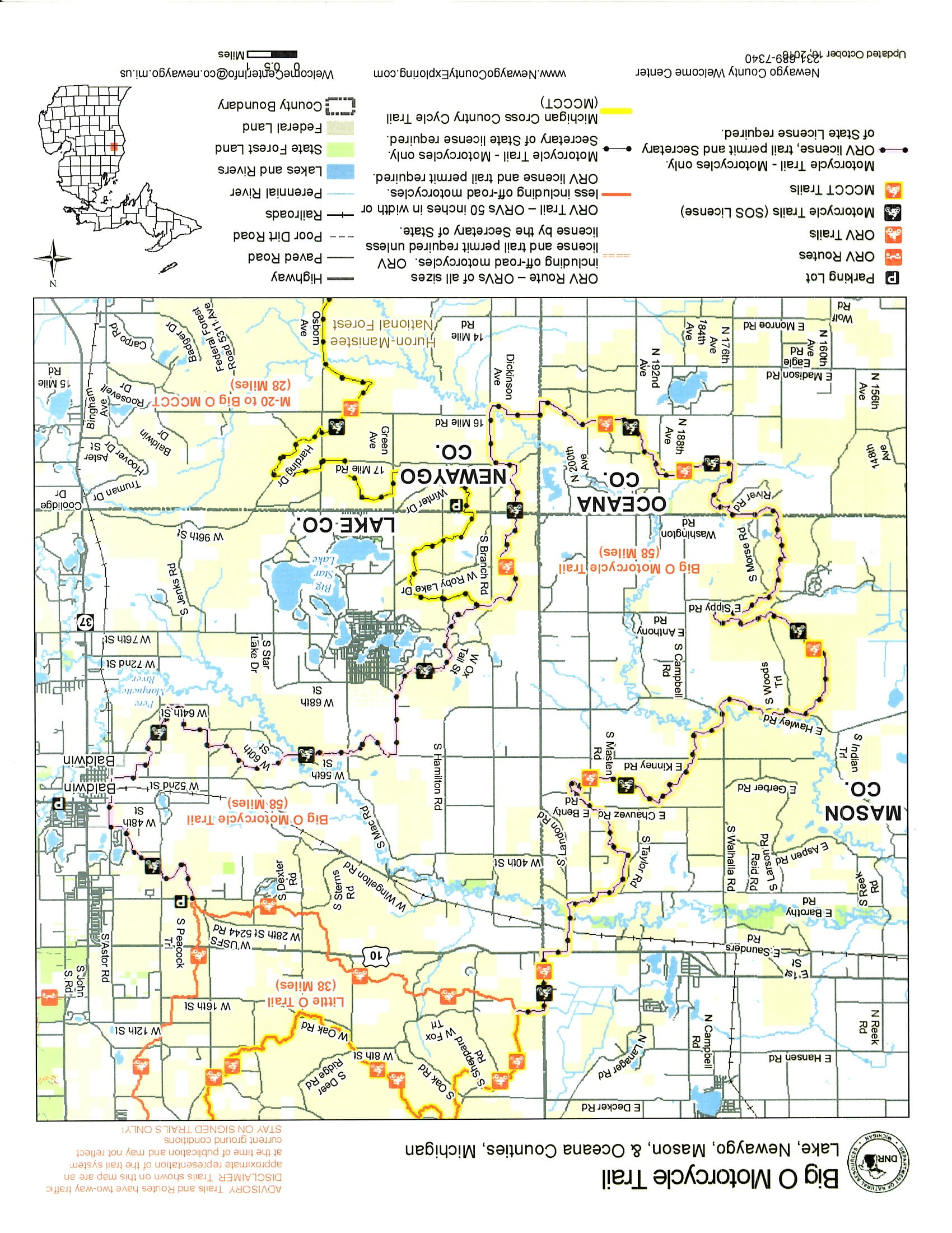 Michigan Cross Country Cycle Trail - Newaygo County Exploring
