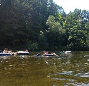 Tubers on the River